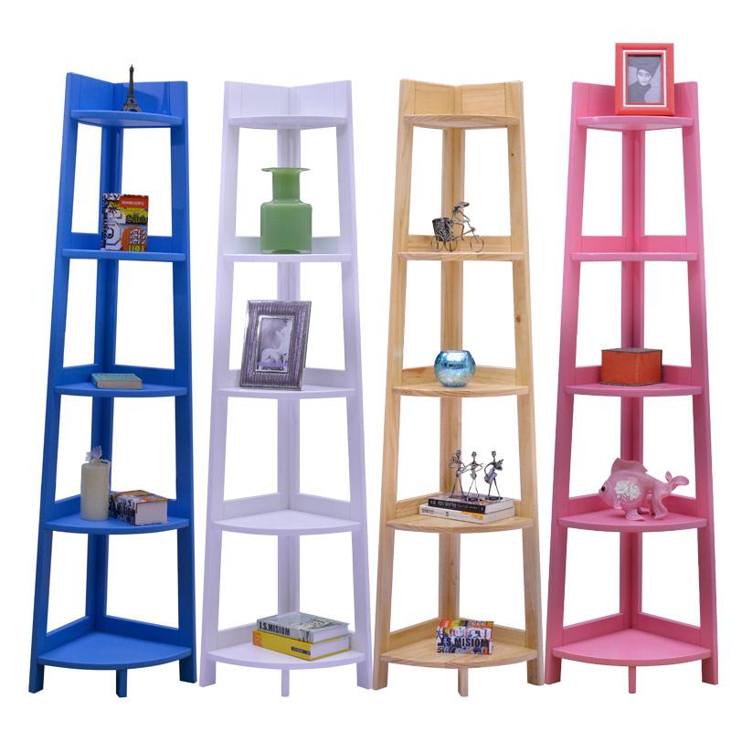 喜梦宝实木家具价格 百搭多色转角置物架