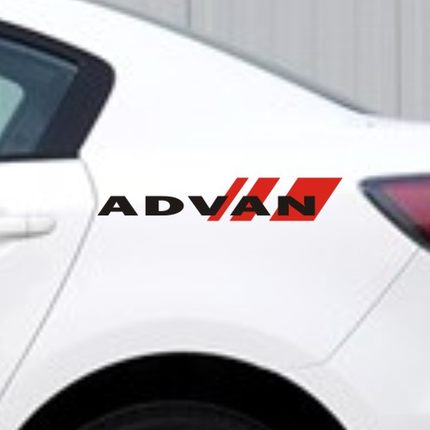 Advan brand logo modified car stickers personalized car stickers reflective stickers body free stickers