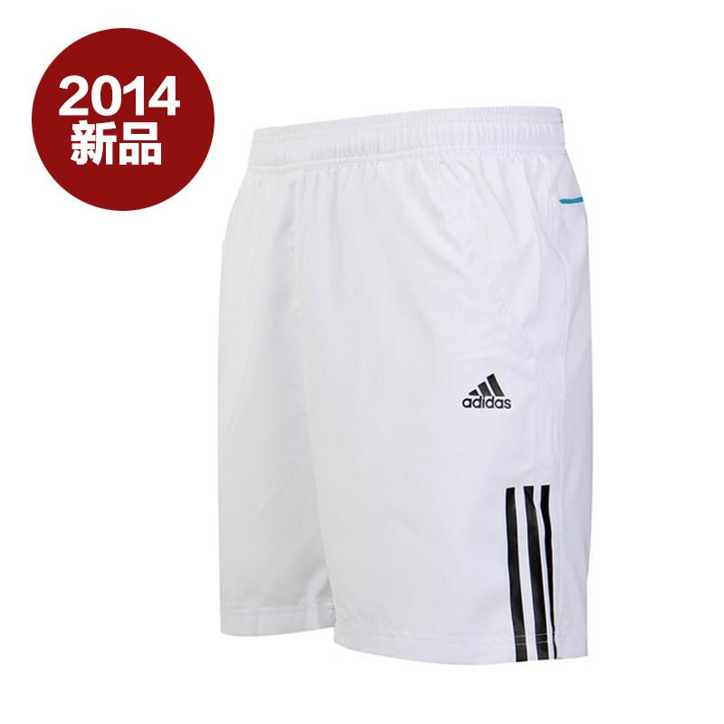 阿迪达斯adidas男装2014夏新品针织三条纹短裤下装F82003