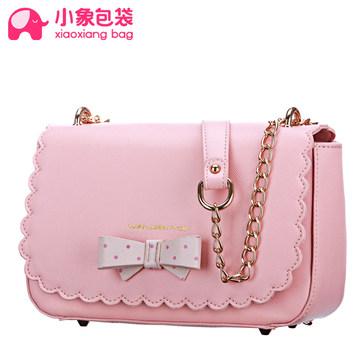 小象包袋2014新款時尚潮流鏈條包甜美蝴蝶結斜跨單肩女包