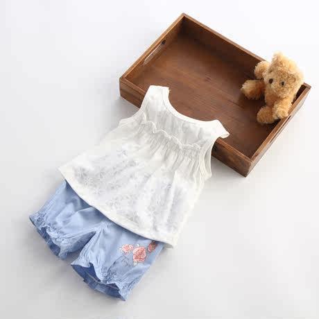 女童衣服無袖夏季套裝童裝