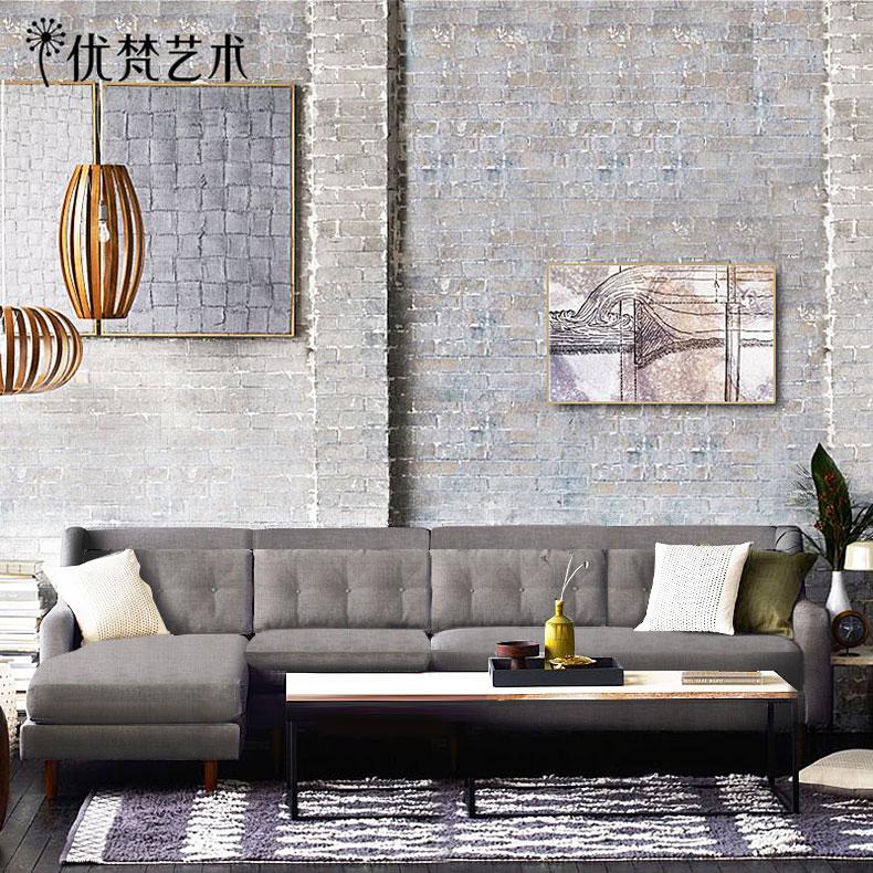 优梵艺术布转角艺沙发组合贵妃欧式客堂小户型当代繁复特价可拆洗