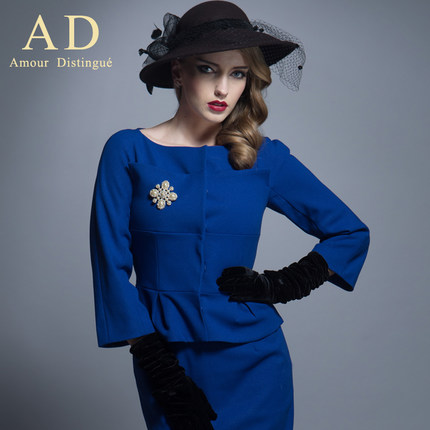 AD high-end business attire skirt suit fashionable ol installs two-piece professional 2014 autumn outfit opens to bookin