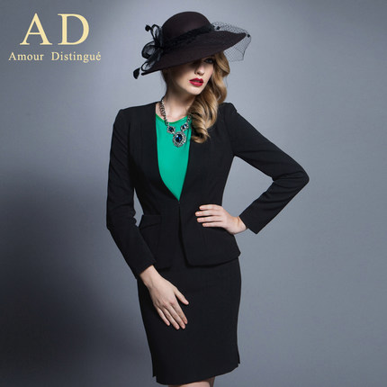 AD2014 early autumn new business attire temperament of women's clothing suits ol dress long-sleeved dress fashion overal