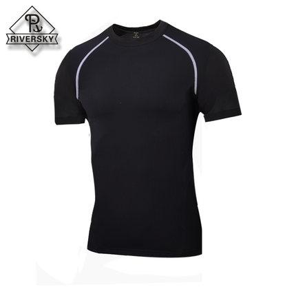 男士运动紧身衣短袖t恤