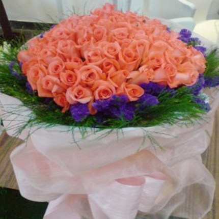 Girlfriend lover anniversary flower delivery Beijing Shanghai Tianjin city Gian florist delivery 99 pink roses