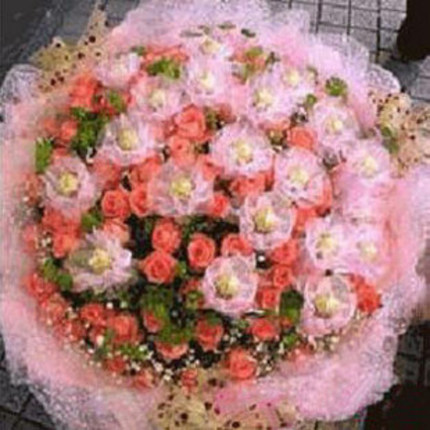 Girlfriend lover anniversary flower delivery Beijing Shanghai Tianjin city of Jiujiang 99 pink roses florist delivery