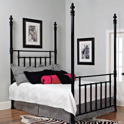 HR- French industrial -style wrought-iron beds , iron beds retro children , 1.8 m double iron bed 6-R1 shipping