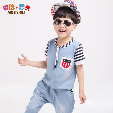 9e6f20e01c8b 2014 new children s clothing for boys and girls summer suit -year-old boys  and