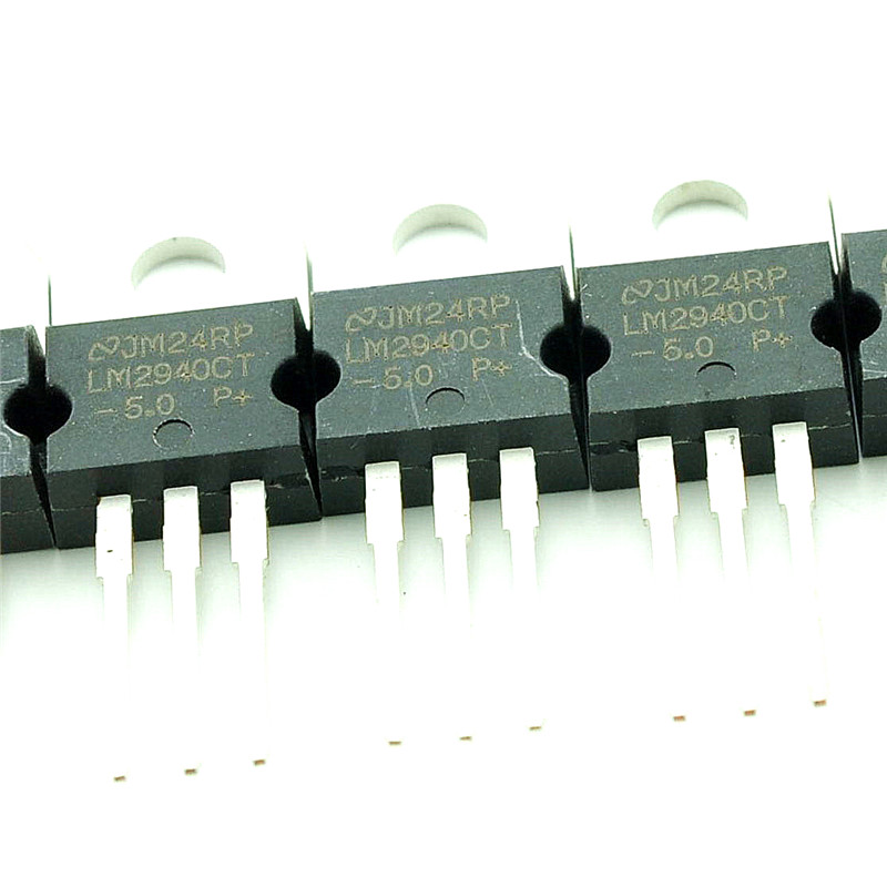 10pcs LM2940CT-5.0 LM2940 Low Dropout Linear Voltage Regulator IC 5V 1A TO-220
