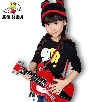 Tong Korean long-sleeved sweater baby girls spring and autumn 2014 new children's clothing 3-5-8-10 -year-old T-shirt