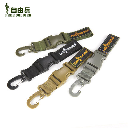 Freedom soldiers outdoor multifunction keychain quickdraw quickdraw Carried cache 1000D durable nylon buckle clasp
