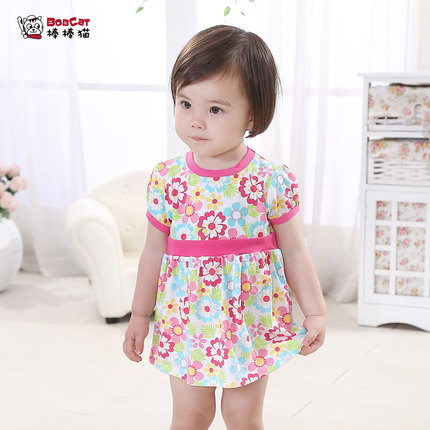 5662ba2c2 Buy One -year-old female baby summer clothing cotton 0-1-2-3 years ...