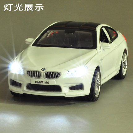 Childrenu0027s Toy Car BMW M6 Car Model Sound And Light Alloy Pull Back Car  Model Toy