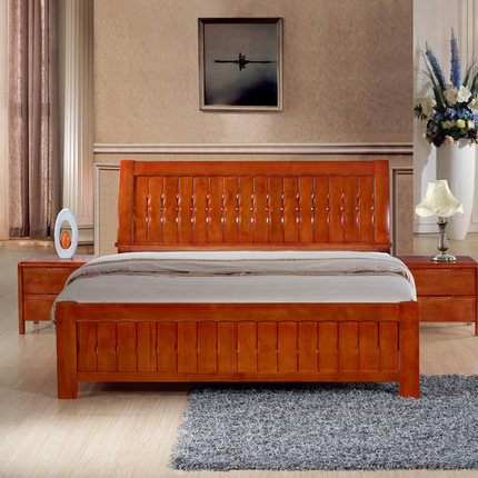 Buy Carlo America All Solid Wood Bed 1 8 M Minimalist Modern Chinese