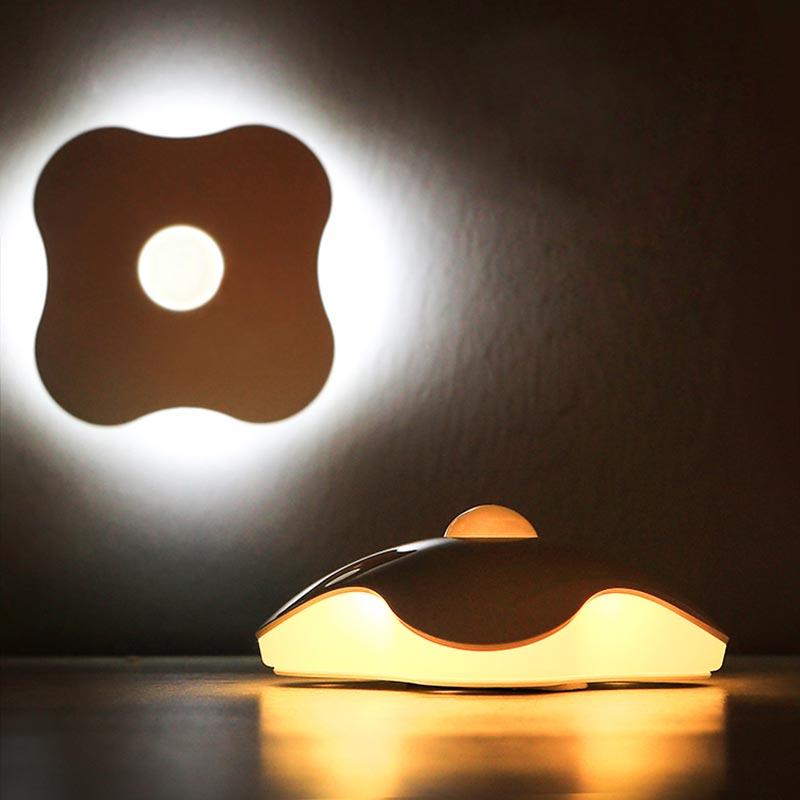 四叶草光控人体感应灯 智能创意家居居家生活用品 懒人礼品日用品图片