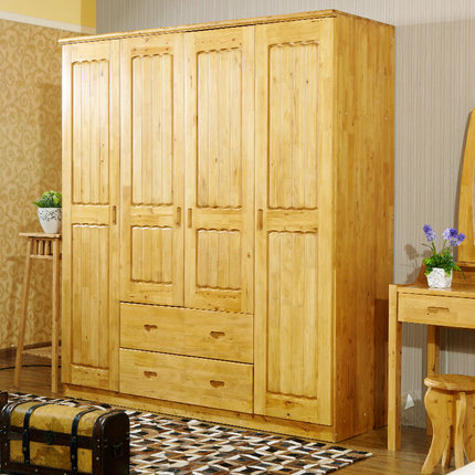 Get Quotations · Livable Bird Cedar Wood Wardrobe Closet 610 Pastoral  Combination With Top Cabinet Wooden Wardrobe Closet Four