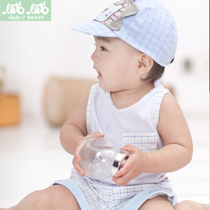 Buy 2014 New Summer Infant Baby Boy Cotton Vest Suit 0 3 Years Old