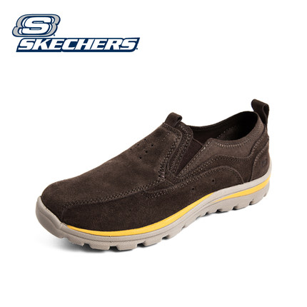 fc5f1f0d5793 Get Quotations · Skechers SKECHERS sets foot lazy shoes men  s casual shoes  a pedal flat shoes autumn