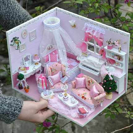 Buy Diy Cabin Luxury Villa Model Girls Birthday Gift Ideas Handmade