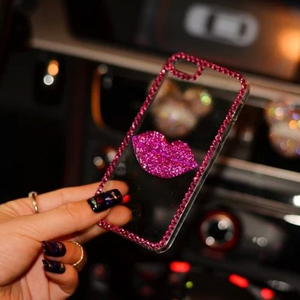 Cool 7295C 7295C diamond mobile phone shell mobile phone sets lips personality tide diamond shell protective sleeve