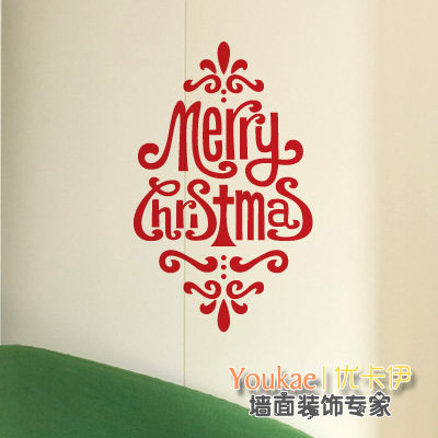 Christmas noble character glass door wall stickers christmas shop window stickers new year decorative glass shop