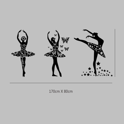 Dance Ballet Word Wall Stickers Decorative Classroom Training Sided Window Affixed To
