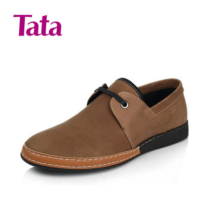 TATA him her leather spring 2014 men's casual shoes lace shoes B1302AM4