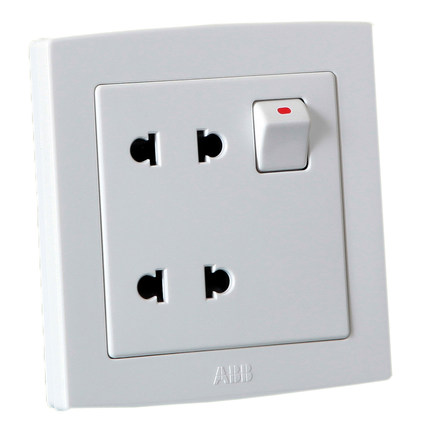 Genuine ABB ABB switch socket outlet switch panel ABB EWA straight edge four-hole socket with switch AL222