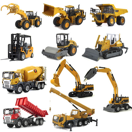 China a children's toy car alloy engineering vehicles excavator excavator truck model car dumpers