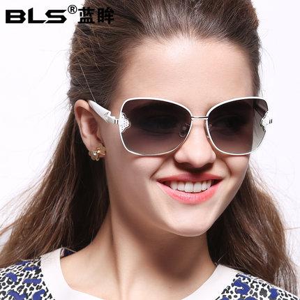 2014 new Ms. sunglasses with UV sunglasses star models wild genuine trend glasses Lanmou