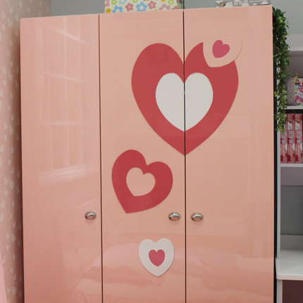 Childrenu0027s Wardrobe Closet Furniture MHJ Two Three Wardrobe Armoire With  Two Children Evacuated Pink Princess Room
