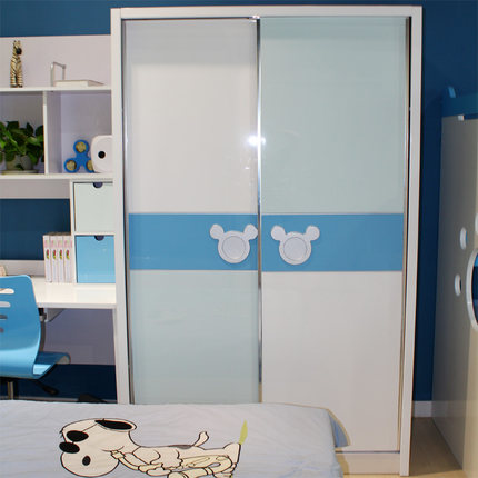 sliding door bedroom furniture. MHJ Children\u0027s Wardrobe Sliding Door Closet Mi Qila Two Boys Light Hand Painted Bedroom Furniture A