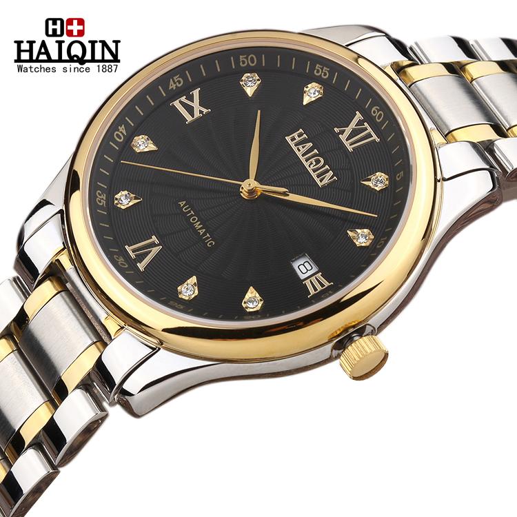 手表/货到付款瑞士海琴专柜18K金男士手表旋风超薄防水全自动机械...