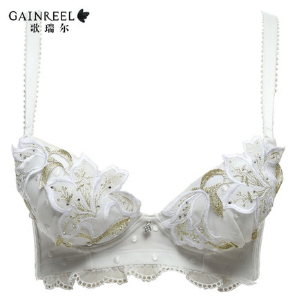 c794fd561ad Summer song Riel pleasing natural fruit cheer thin section of a large chest  lace adjustable bra sexy ladies underwear