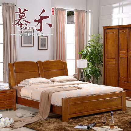 buy french family furniture  wood bed double bed 1 8 m 1 5 Discount Wicker Bedroom Furniture Solid Wood Bedroom Furniture Sets
