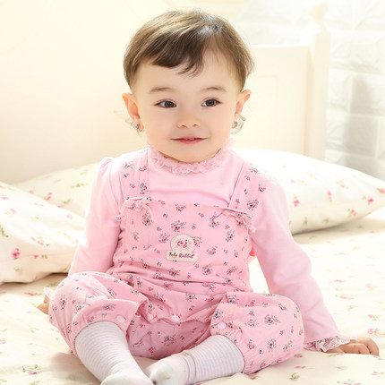 335e1e07358b Buy Autumn baby girl baby clothes 0-6 months Girls Spring models ...