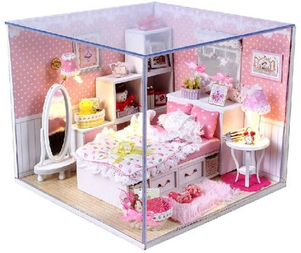 Dream Angels Handmade DIY Hut Assembled Model House Romantic Birthday Gift Ideas To Send Girls Home